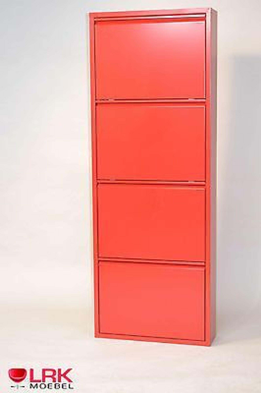 Metallschuhschrank mit 4 klappen in 7 farben schuhkipper schuhregal wandmontage kaufen bei - Schuhregal wandmontage ...