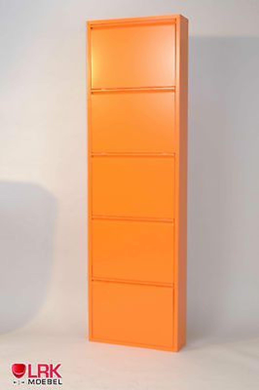 metallschuhschrank mit 5 klappen in 7 farben schuhkipper schuhregal wandmontage kaufen bei. Black Bedroom Furniture Sets. Home Design Ideas