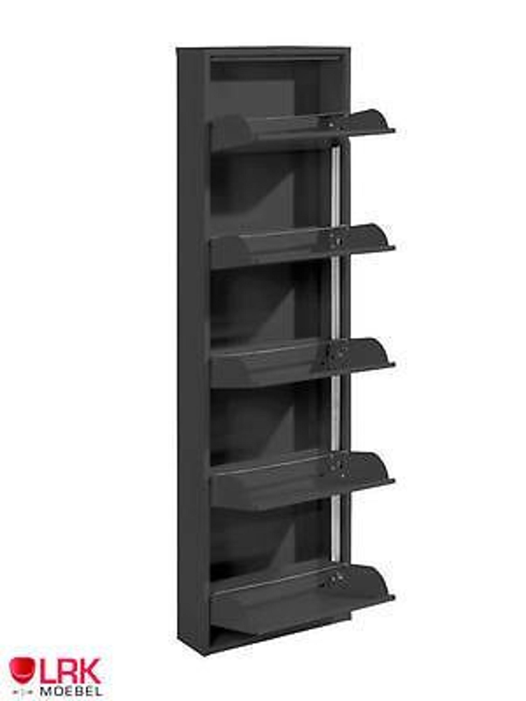 Metallschuhschrank mit 5 klappen in 7 farben schuhkipper schuhregal wandmontage kaufen bei - Schuhregal wandmontage ...