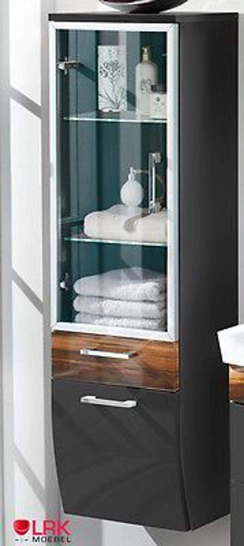 5814 badezimmer hochschrank mit led glasboden beleuchtung hochglanz rima serie kaufen bei. Black Bedroom Furniture Sets. Home Design Ideas
