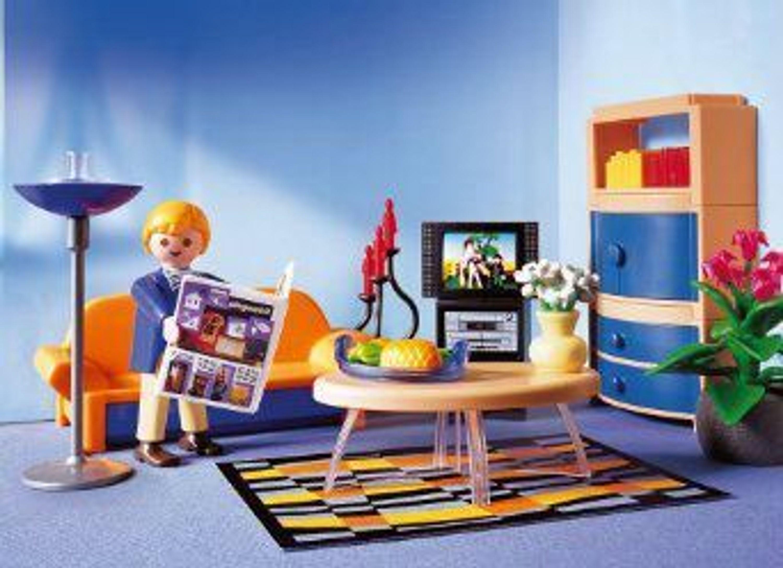 Playmobil 3966 Modernes Wohnzimmer * AB* Einfamilienhaus Villa Haus ...