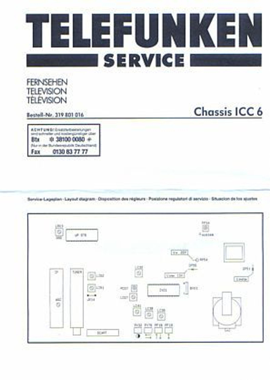 Telefunken TV Service Manual / Schaltpläne zum Chassis ICC 6 ...