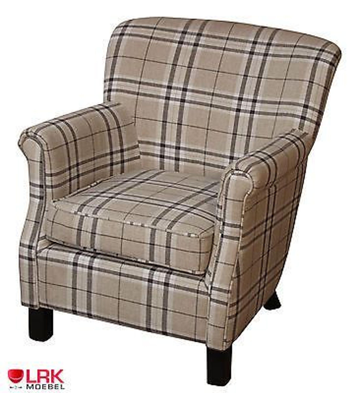 polstersessel sessel polsterstuhl kariert m bel armlehne. Black Bedroom Furniture Sets. Home Design Ideas
