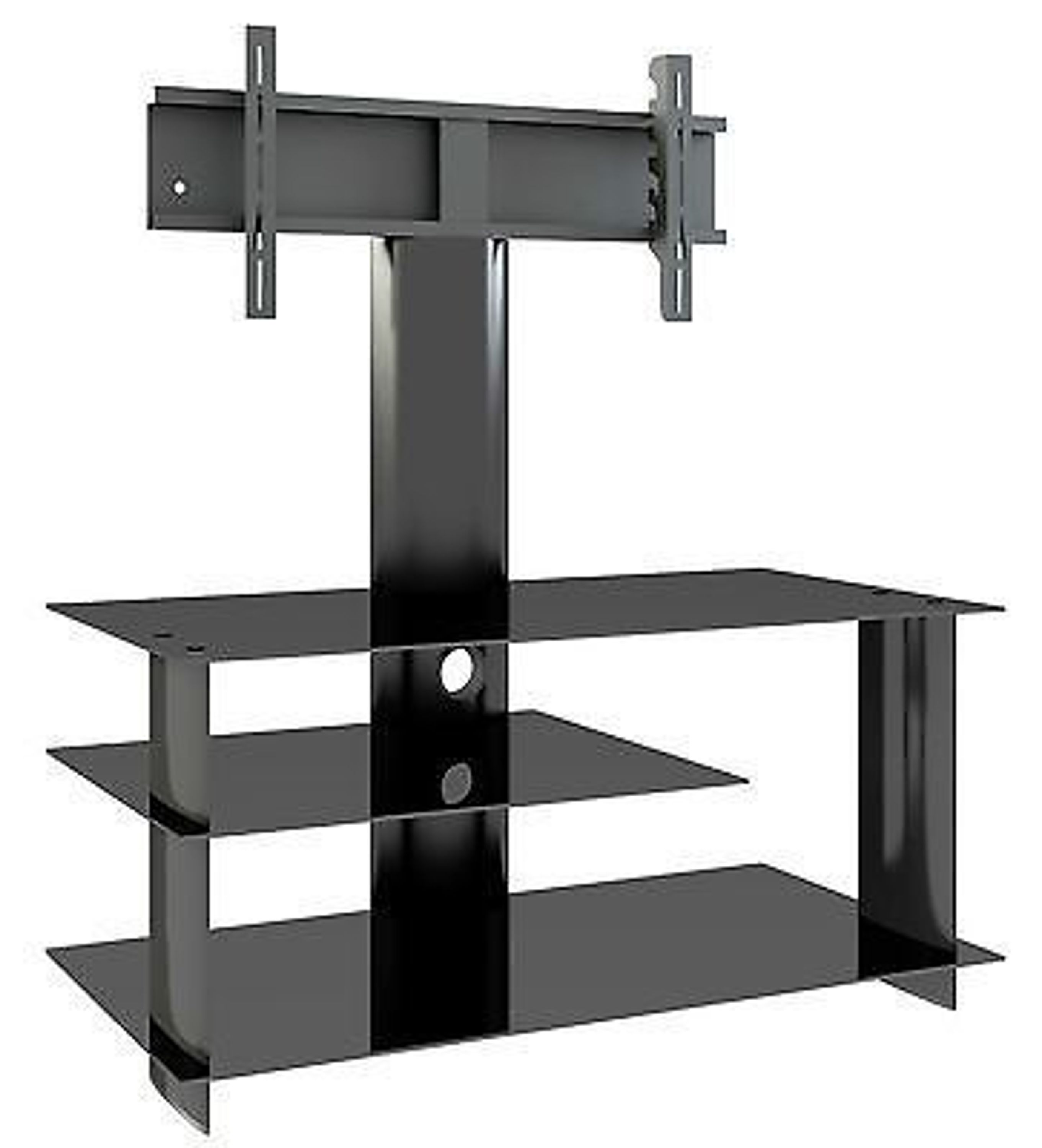 tv rack mit halterung tv m bel m bel led hifi standkonsole rack tisch glas kaufen bei. Black Bedroom Furniture Sets. Home Design Ideas