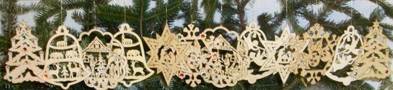 Neu Christbaumschmuck Weihnachtsdeko Holz 12 Teilig Kaufen