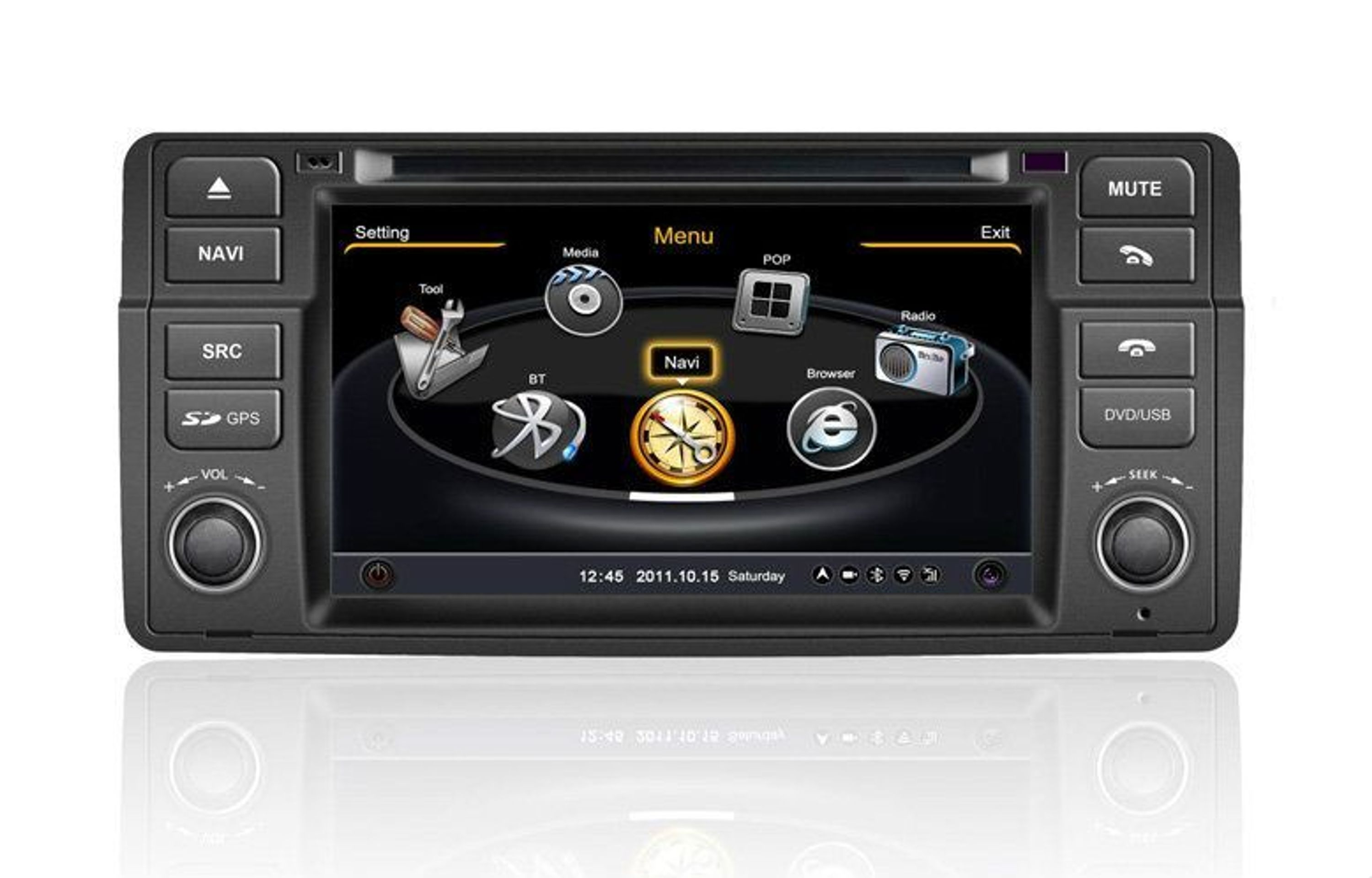bmw e46 autoradio navigation gps tmc dvd mp3 usb sd 3d dvb t kaufen bei. Black Bedroom Furniture Sets. Home Design Ideas