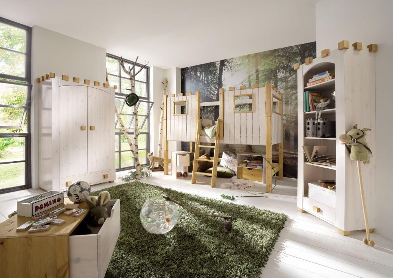 kinderzimmer schlafzimmer komplett bett schrank regal ritterburg kiefer massiv kaufen bei. Black Bedroom Furniture Sets. Home Design Ideas