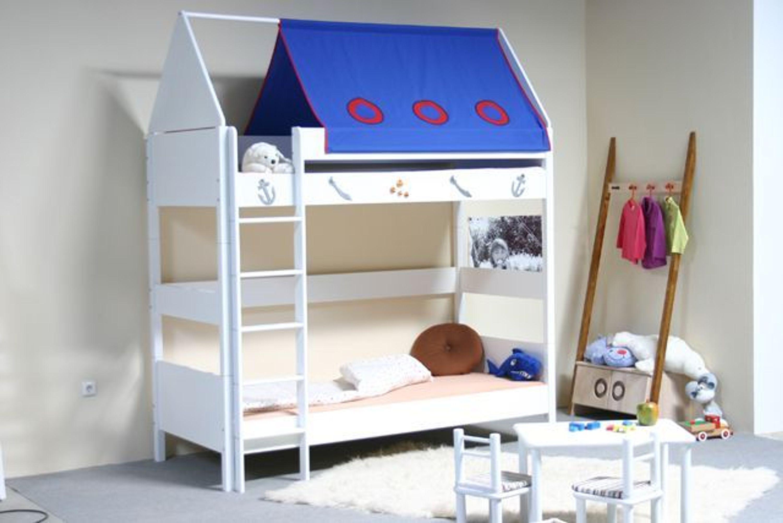 taube m bel etagenbett pirat h he 154 182 mit dach. Black Bedroom Furniture Sets. Home Design Ideas