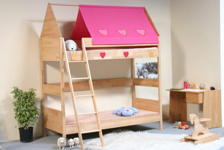 taube m bel etagenbett prinzessin h he 154 182 mit dach. Black Bedroom Furniture Sets. Home Design Ideas