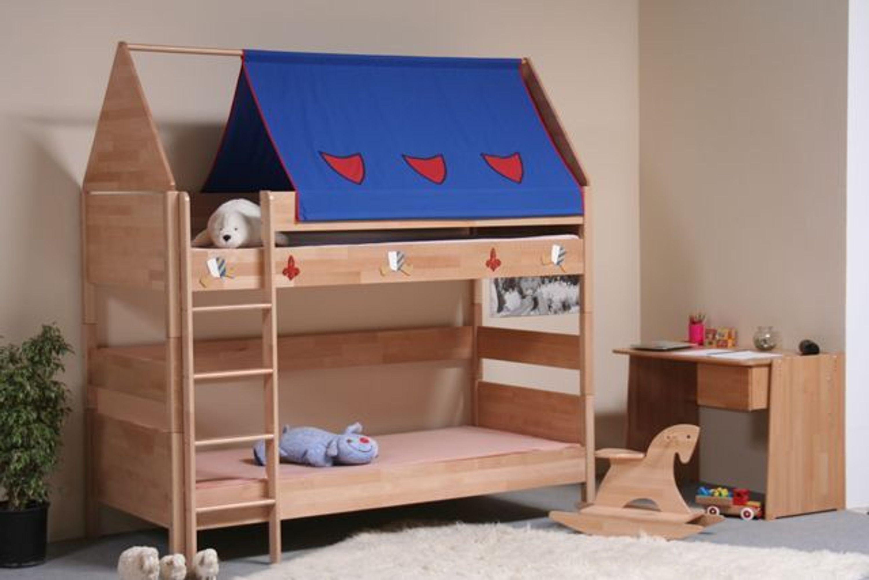 taube m bel etagenbett ritter h he 154 182 mit dach buche massiv kaufen bei. Black Bedroom Furniture Sets. Home Design Ideas