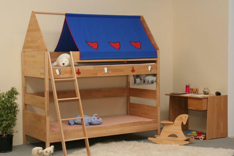 taube m bel etagenbett ritter h he 154 182 mit dach. Black Bedroom Furniture Sets. Home Design Ideas