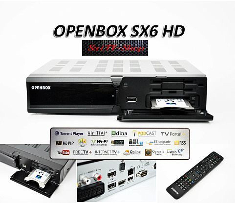 openbox sx6 hd neuer modell 2014 full hd sat receiver vorprogrammiert kaufen bei. Black Bedroom Furniture Sets. Home Design Ideas