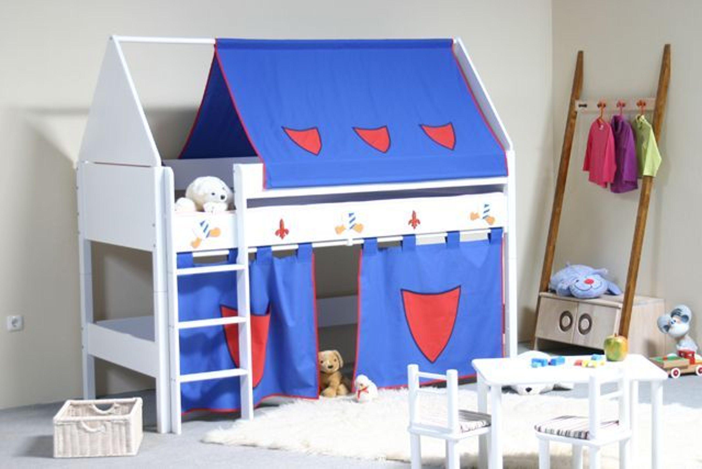 taube m bel spielbett ritter h he 124 mit dach und. Black Bedroom Furniture Sets. Home Design Ideas