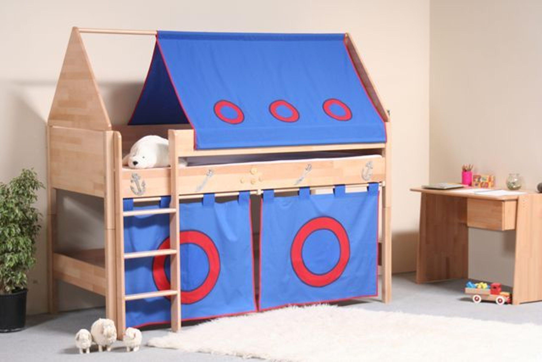 taube m bel spielbett pirat h he 124 mit dach und. Black Bedroom Furniture Sets. Home Design Ideas