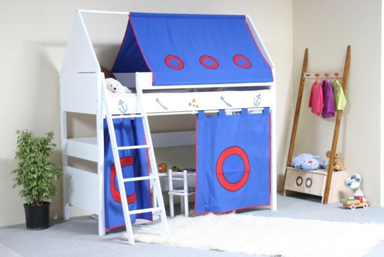 taube m bel hochbett pirat h he 154 182 mit dach und. Black Bedroom Furniture Sets. Home Design Ideas