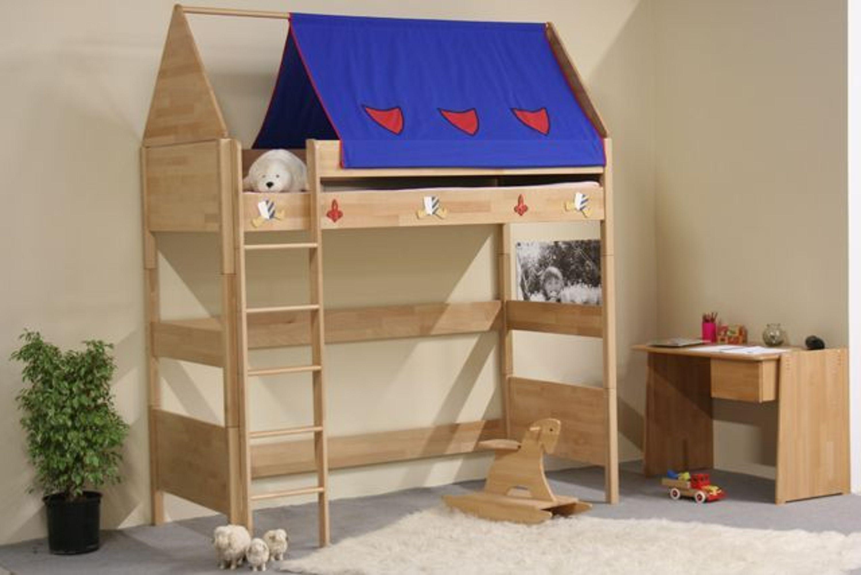 taube m bel hochbett ritter h he 154 182 mit dach u. Black Bedroom Furniture Sets. Home Design Ideas