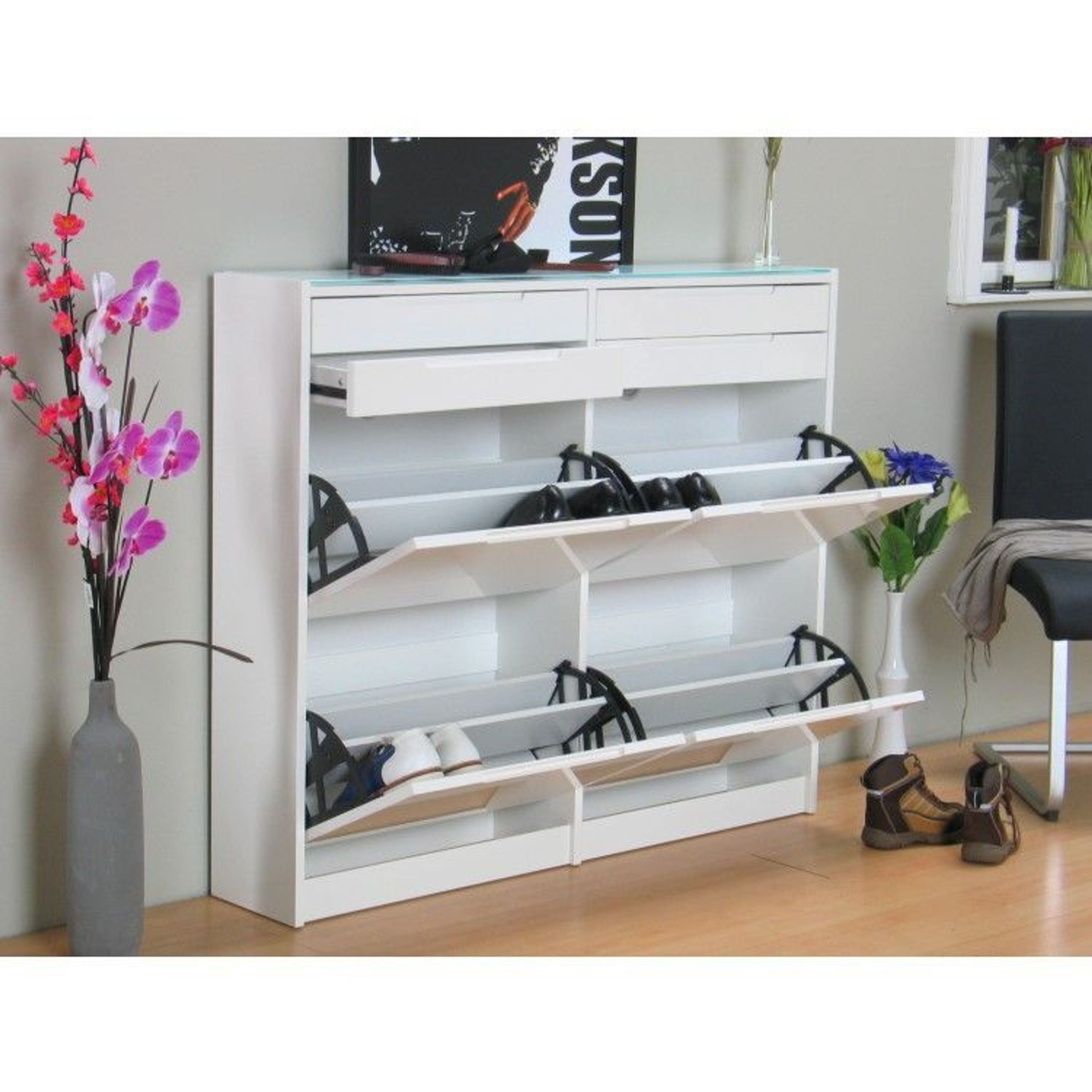 schuhschrank berlin schuhkipper schuh ablage schrank wei. Black Bedroom Furniture Sets. Home Design Ideas