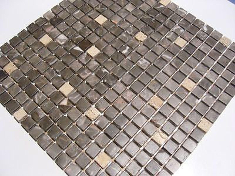 naturstein marmor mosaik fliesen emperador dunkel 1 qm kaufen bei. Black Bedroom Furniture Sets. Home Design Ideas