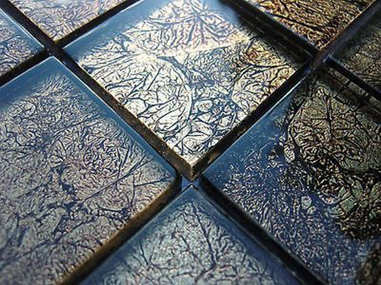 glasmosaik effekt mosaik fliesen klarglas metall schwarz gold klarglas 8mm bad kaufen bei. Black Bedroom Furniture Sets. Home Design Ideas