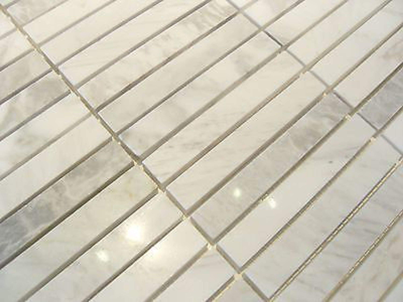 1 qm carrara classic naturstein marmor mosaik poliert. Black Bedroom Furniture Sets. Home Design Ideas