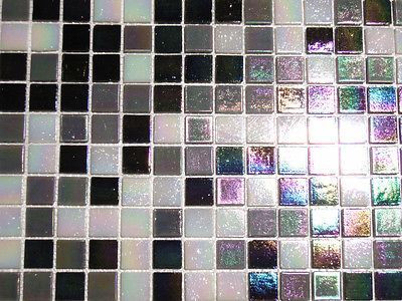 glasmosaik fliesen mosaik perlmutteffekt schwarz weiss grau perlmutt bad 2 14 qm kaufen bei. Black Bedroom Furniture Sets. Home Design Ideas