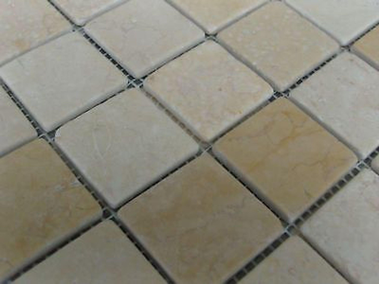 1 qm fliese naturstein marmor mosaik creme gelb st012a kaufen bei. Black Bedroom Furniture Sets. Home Design Ideas