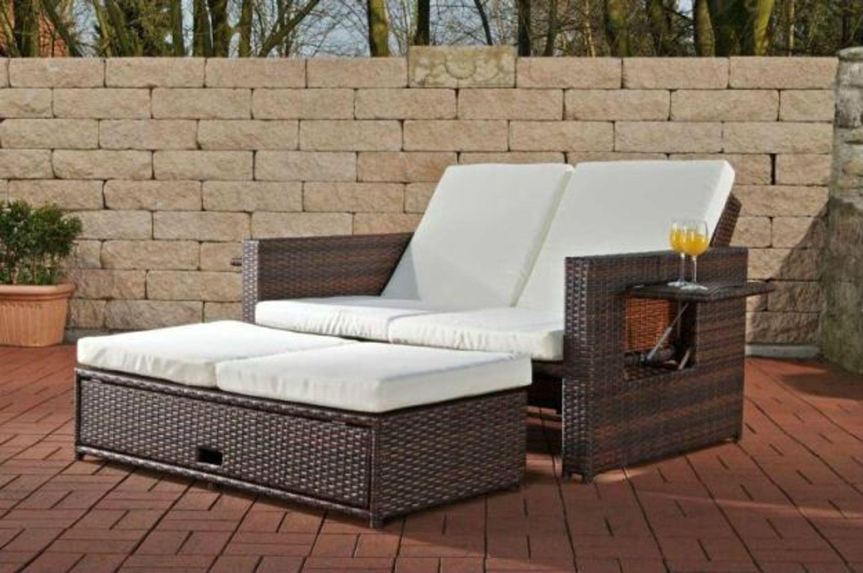 sofa ausziehbar ablagen funktionen daybed lounge gartenm bel rattan 7 farben cl andy kaufen bei. Black Bedroom Furniture Sets. Home Design Ideas