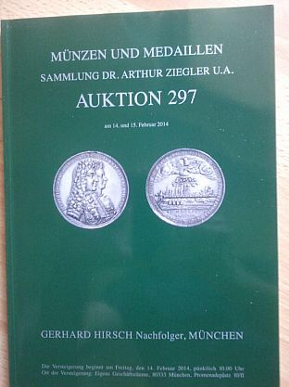 Auktionskatalog 297 Münzen Und Medaillen Münzhandlung Hirsch München