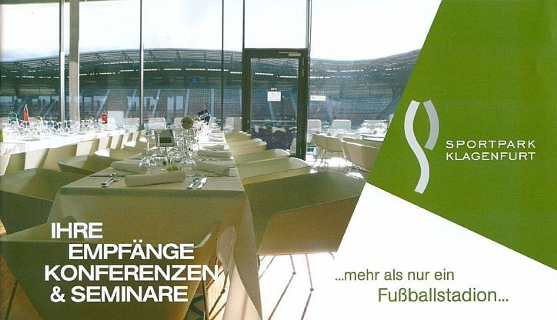 1) Broschüre Sportpark Klagenfurt Wörthersee-Stadion Austria Österreich  Kärnten cdb5d4f4ef