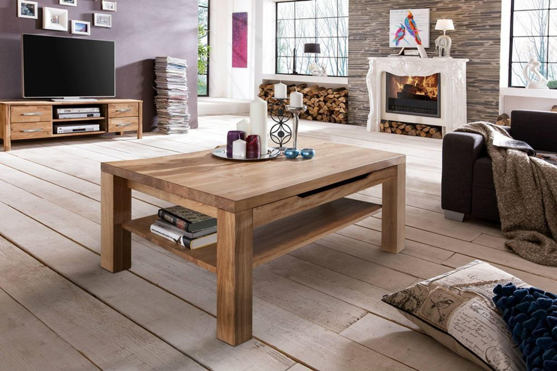 couchtisch mit schubladen softclose nussbaum eiche. Black Bedroom Furniture Sets. Home Design Ideas