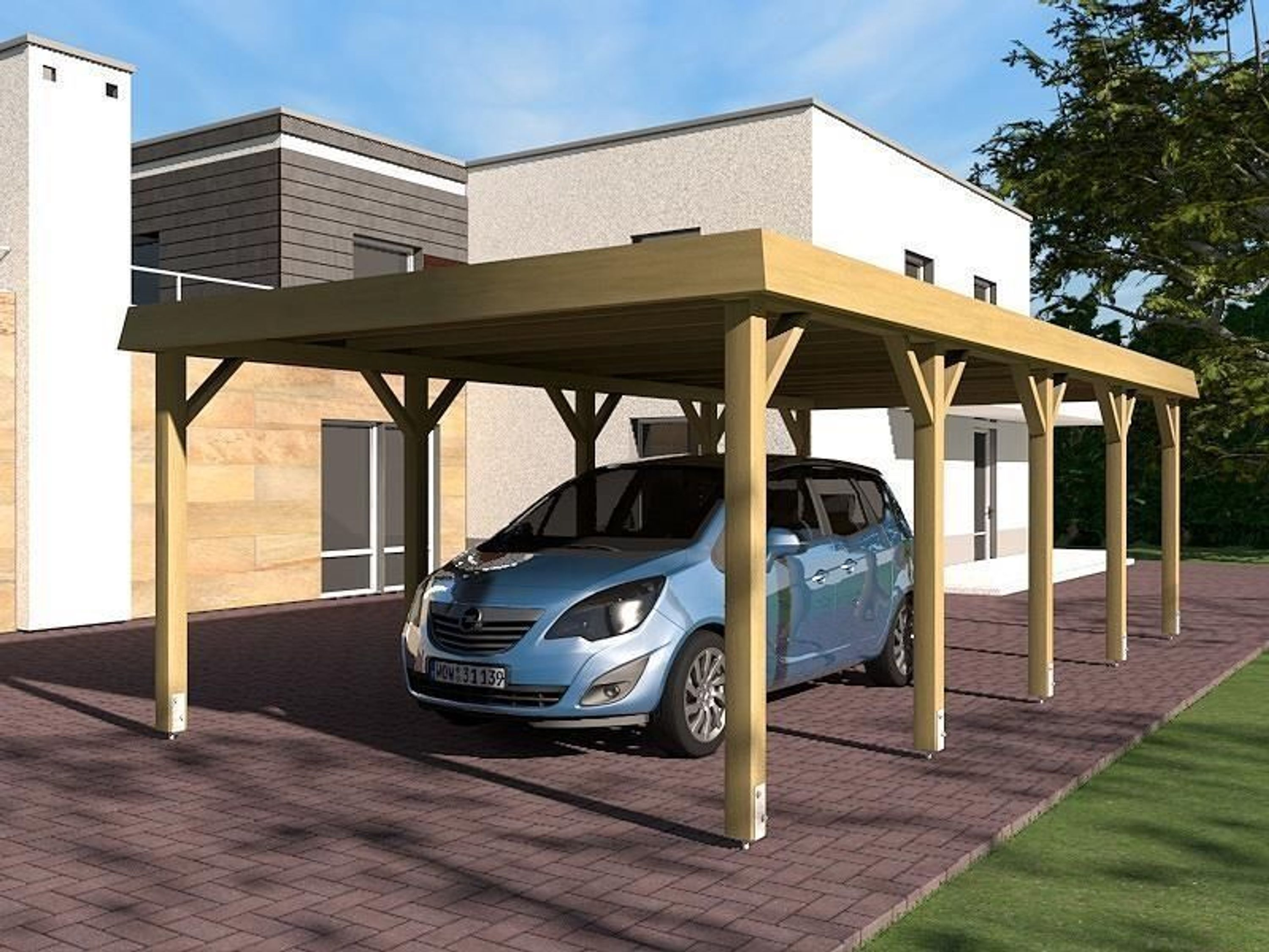 carport walmdach sauerland i 400 x 800 cm komplett mit. Black Bedroom Furniture Sets. Home Design Ideas