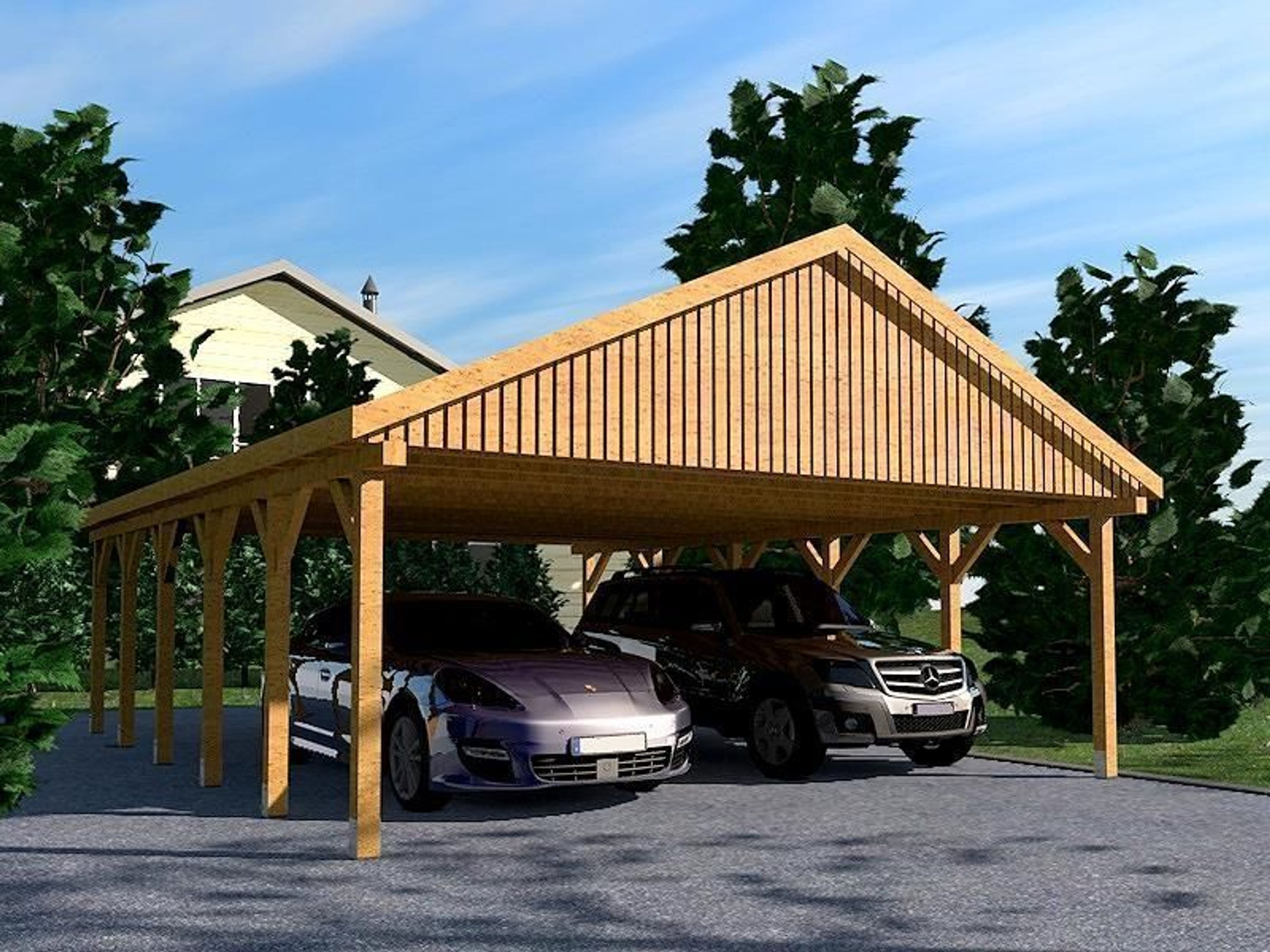 carport satteldach monte carlo vi 600x900cm kvh holz kaufen bei. Black Bedroom Furniture Sets. Home Design Ideas