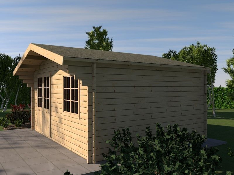 M M Holzhaus gartenhaus eifel blockhaus 505cm x 415cm 44 mm holzhaus kaufen bei