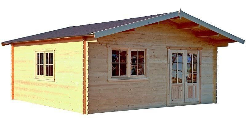 gartenhaus berlin blockhaus holzhaus 600 x 600 cm zwischenw nde 45 mm kaufen bei. Black Bedroom Furniture Sets. Home Design Ideas