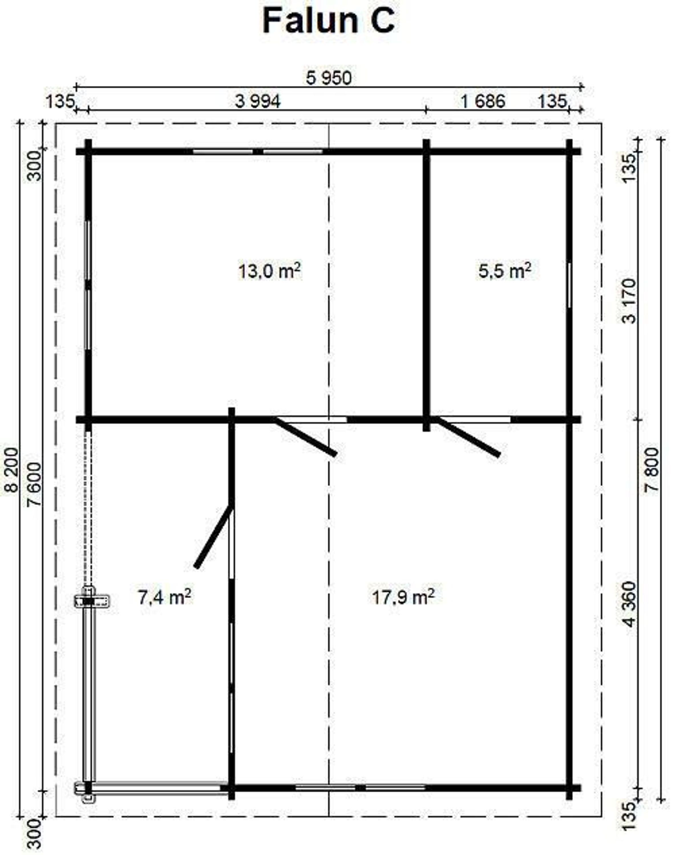 gartenhaus falun c 70 blockhaus 780 x 595 cm holzhaus 70 mm ferienhaus holz neu kaufen bei. Black Bedroom Furniture Sets. Home Design Ideas