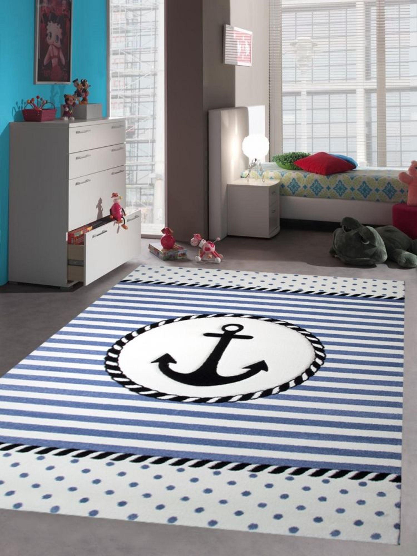 kinderteppich maritim kinderzimmerteppich jungen teppich