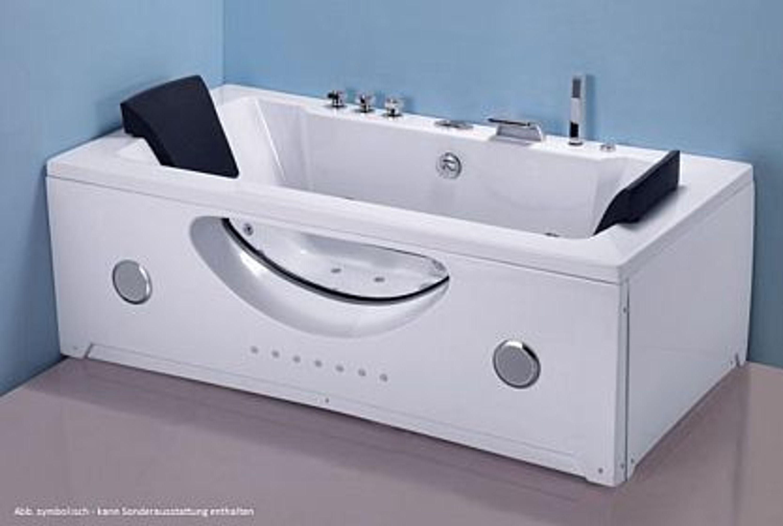 badewanne whirlpool ruw622 st 180 x 90 x 64 cm led radio massage d sen kaufen bei. Black Bedroom Furniture Sets. Home Design Ideas