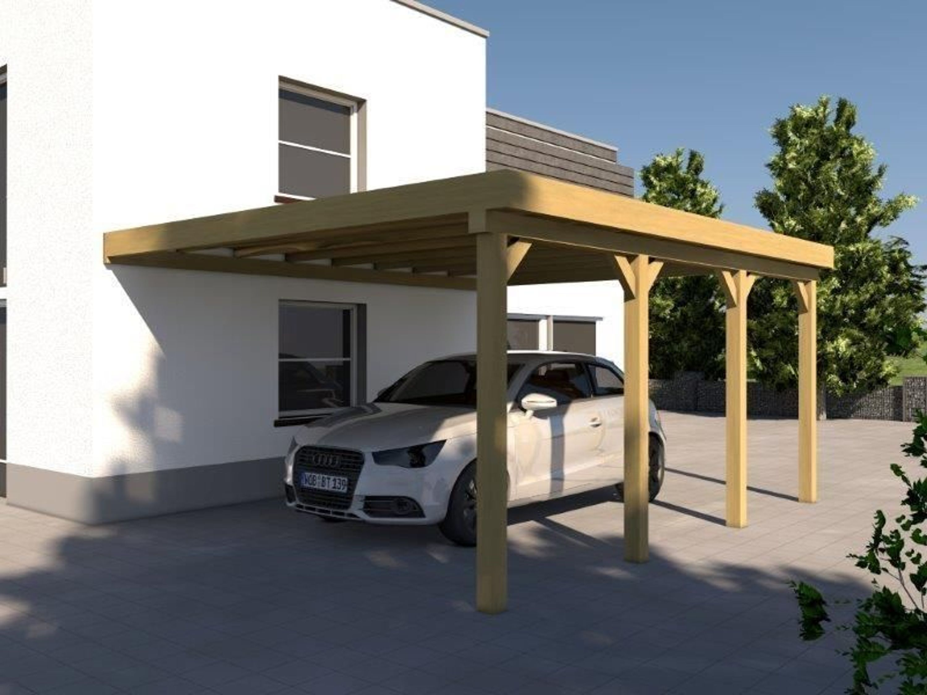 anlehncarport carport eifel iv 400x600cm bausatz anbaucarport dacheindeckung kaufen bei. Black Bedroom Furniture Sets. Home Design Ideas