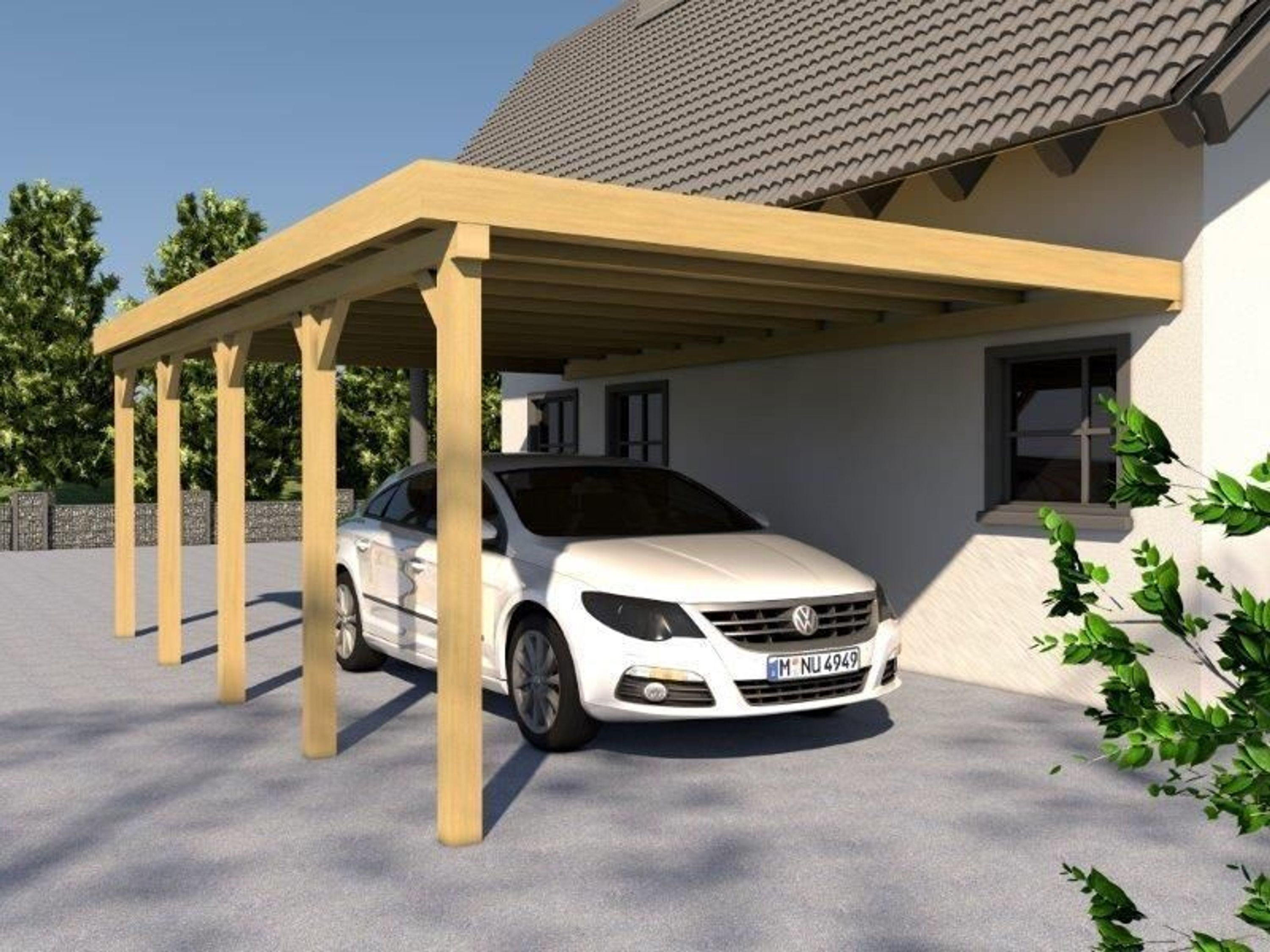 anlehncarport carport eifel vii 400x800cm bausatz anbaucarport dacheindeckung kaufen bei. Black Bedroom Furniture Sets. Home Design Ideas