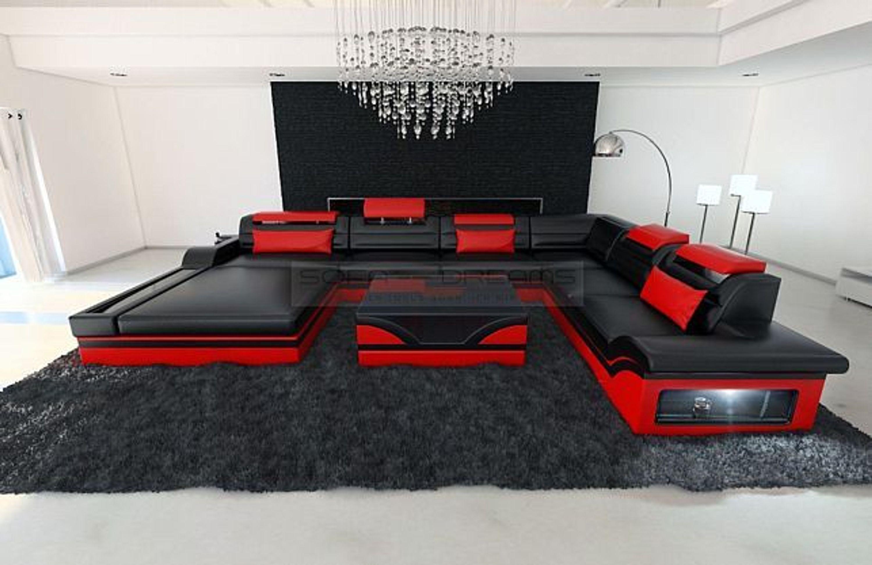 Luxus Wohnlandschaft Mezzo Xxl Designer Couch Garnitur Mit Led