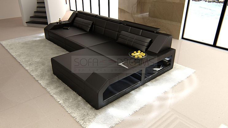 ledersofa arezzo l form eckcouch beleuchtung ledercouch sofa kaufen bei. Black Bedroom Furniture Sets. Home Design Ideas