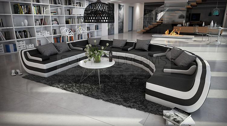 Rundsofa U Form Loungesofa Tissera Wohnlandschaft Design Eckcouch