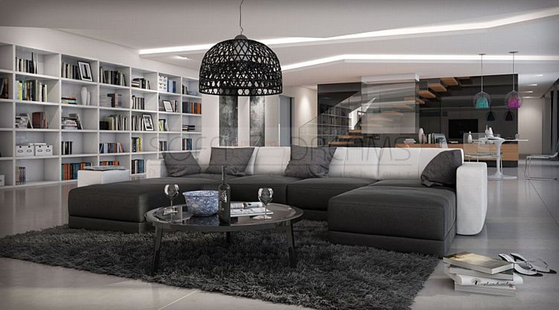 moderne wohnlandschaft ferragamo u form designersofa luxussofa sofa kaufen bei. Black Bedroom Furniture Sets. Home Design Ideas
