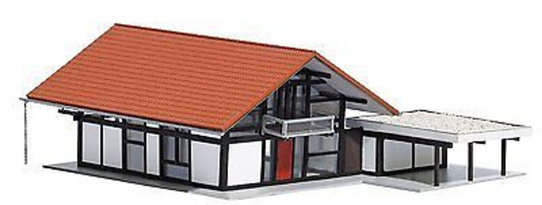 busch 1446 huf haus braun rot h0 modellwelten bausatz. Black Bedroom Furniture Sets. Home Design Ideas