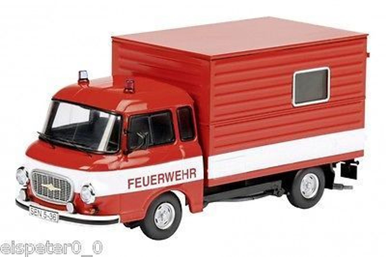 barkas b1000 feuerwehr koffer schuco auto modell 1 43 art 450365500 kaufen bei. Black Bedroom Furniture Sets. Home Design Ideas