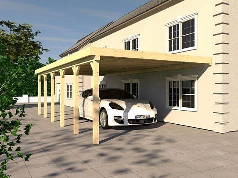 anlehncarport carport rh n viii 400x900cm kvh bausatz carport dacheindeckung kaufen bei. Black Bedroom Furniture Sets. Home Design Ideas