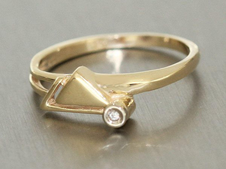 zarter brillantring ring gold 585 modernes design