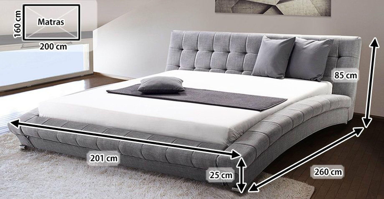 stoff bett polsterbett mit stoffbezug stoffbett grau mit lattenrost 160 180 x 200 kaufen bei. Black Bedroom Furniture Sets. Home Design Ideas