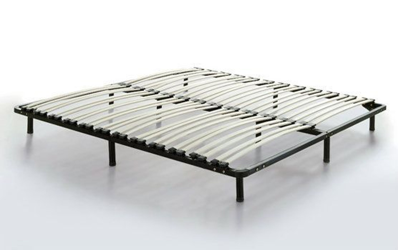 stoff bett polsterbett mit stoffbezug schwarz grau mit lattenrost 180 x 200 cm neu kaufen bei. Black Bedroom Furniture Sets. Home Design Ideas