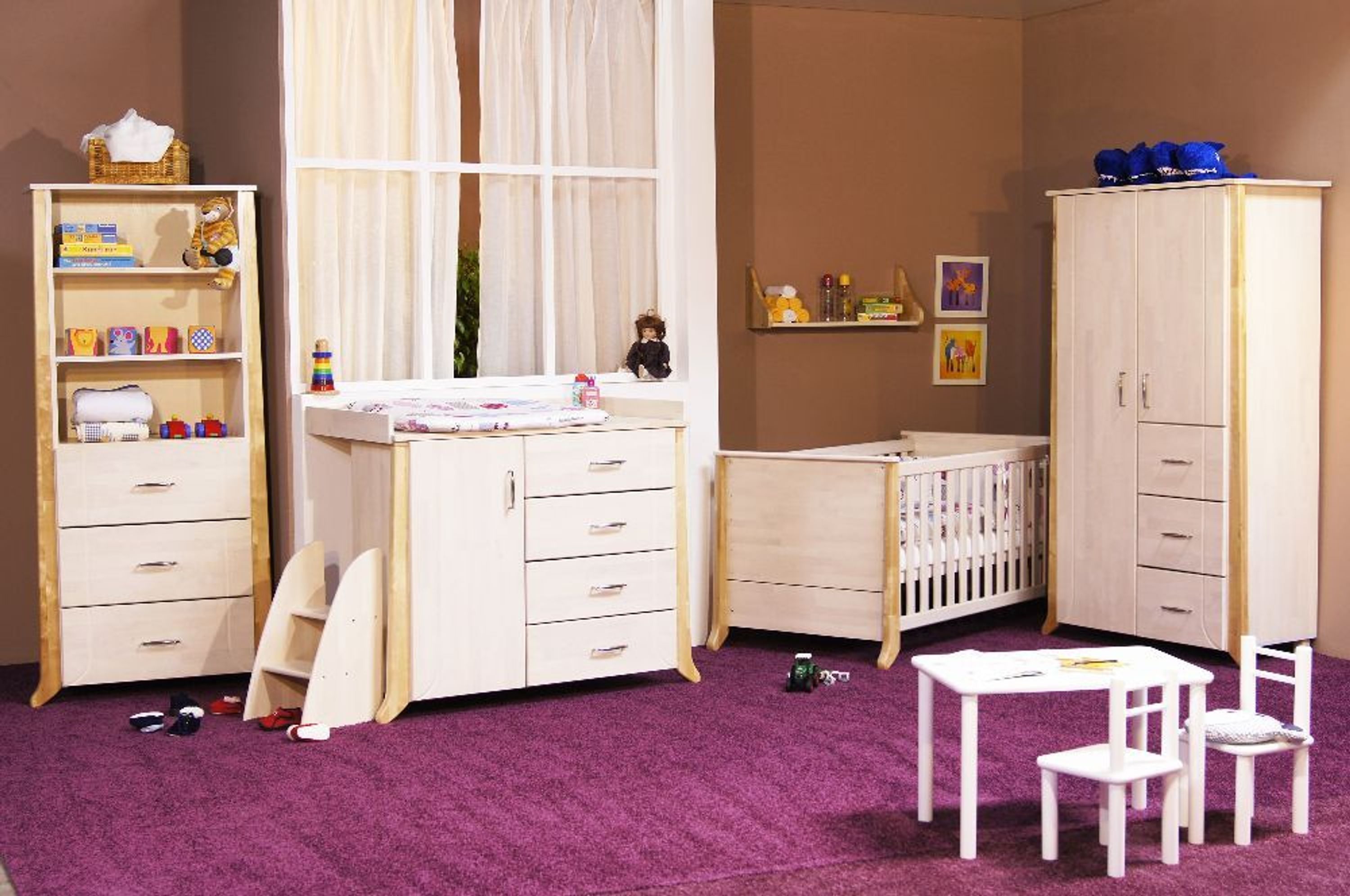 taube kinderzimmer babyzimmer willi bett kommode schrank birke buche massiv kaufen bei. Black Bedroom Furniture Sets. Home Design Ideas